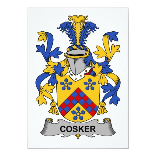 Escudo de la familia de Cosker Invitacion Personal