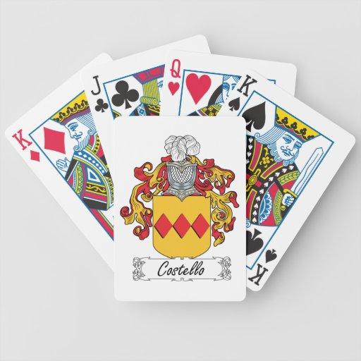 Escudo de la familia de Costello Cartas De Juego