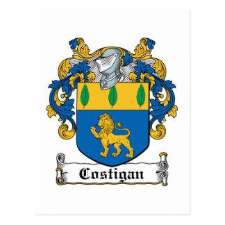 Escudo de la familia de Costigan Tarjeta Postal