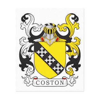 Escudo de la familia de Coston Impresión En Lona Estirada