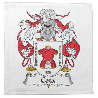 Escudo de la familia de Cota Servilletas De Papel