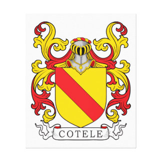 Escudo de la familia de Cotele Impresiones En Lona Estiradas