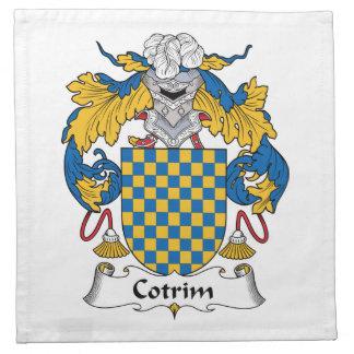 Escudo de la familia de Cotrim Servilleta