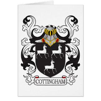 Escudo de la familia de Cottingham Tarjeta De Felicitación