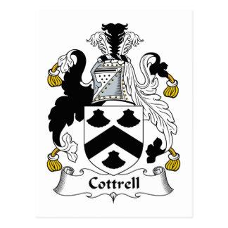 Escudo de la familia de Cottrell Postal