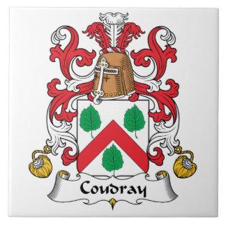 Escudo de la familia de Coudray Azulejo Cuadrado Grande