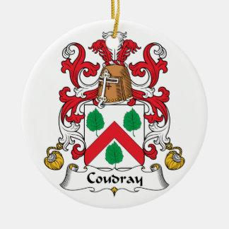 Escudo de la familia de Coudray Adorno Redondo De Cerámica