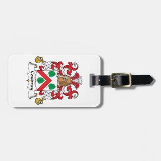 Escudo de la familia de Coudray Etiqueta Para Equipaje