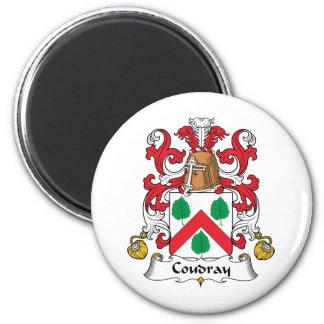 Escudo de la familia de Coudray Imán Redondo 5 Cm