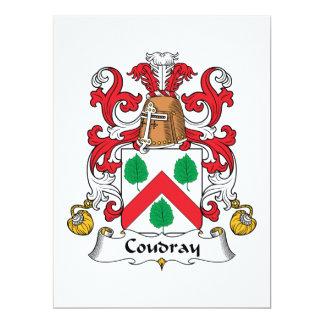 """Escudo de la familia de Coudray Invitación 6.5"""" X 8.75"""""""