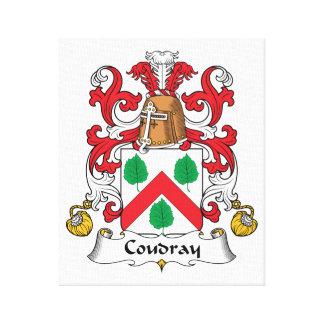 Escudo de la familia de Coudray Impresiones En Lienzo Estiradas