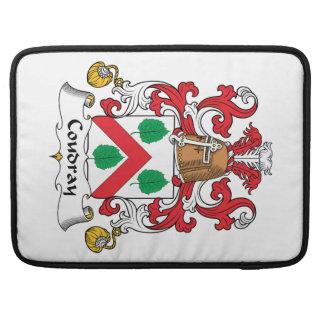 Escudo de la familia de Coudray Fundas Para Macbooks
