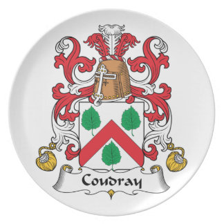Escudo de la familia de Coudray Plato De Comida