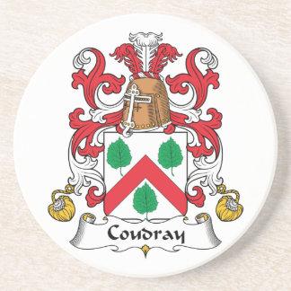 Escudo de la familia de Coudray Posavasos Cerveza