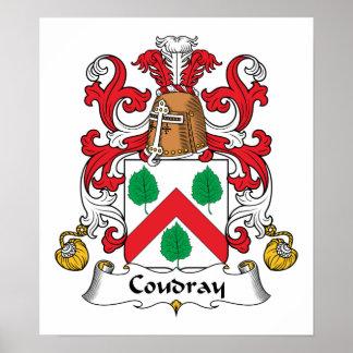 Escudo de la familia de Coudray Póster