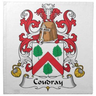 Escudo de la familia de Coudray Servilleta