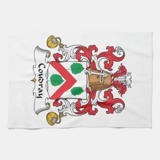 Escudo de la familia de Coudray Toallas De Mano