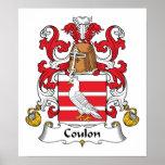 Escudo de la familia de Coulon Poster