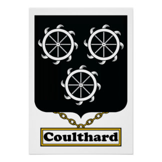 Escudo de la familia de Coulthard Póster
