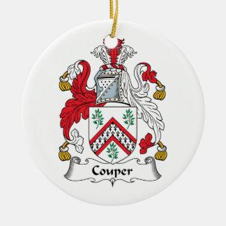 Escudo de la familia de Couper Ornamento Para Arbol De Navidad