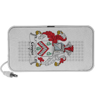 Escudo de la familia de Couper Notebook Altavoz