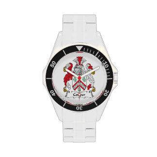 Escudo de la familia de Couper Reloj