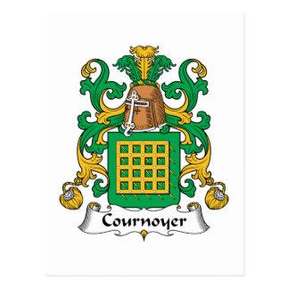 Escudo de la familia de Cournoyer Tarjetas Postales