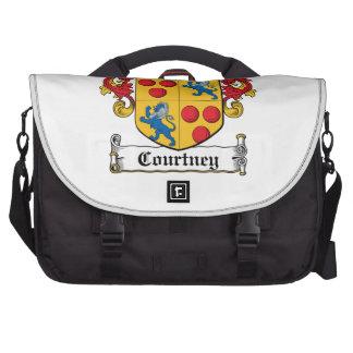 Escudo de la familia de Courtney Bolsas Para Portatil