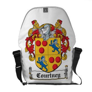 Escudo de la familia de Courtney Bolsa De Mensajeria