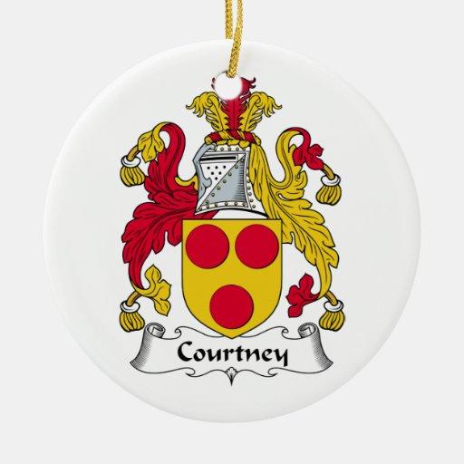 Escudo de la familia de Courtney Ornamento Para Reyes Magos