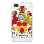 Escudo de la familia de Courtney iPhone 4 Carcasa