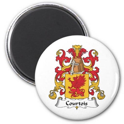 Escudo de la familia de Courtois Imán Redondo 5 Cm