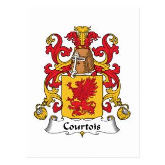 Escudo de la familia de Courtois Postal