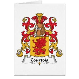 Escudo de la familia de Courtois Tarjetas