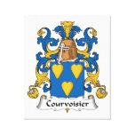 Escudo de la familia de Courvoisier Impresiones En Lona