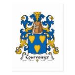 Escudo de la familia de Courvoisier Postal