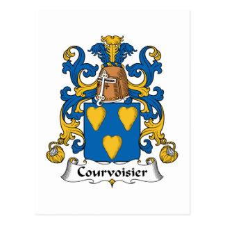 Escudo de la familia de Courvoisier Postales