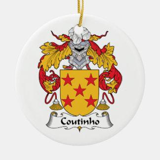 Escudo de la familia de Coutinho Adorno Redondo De Cerámica