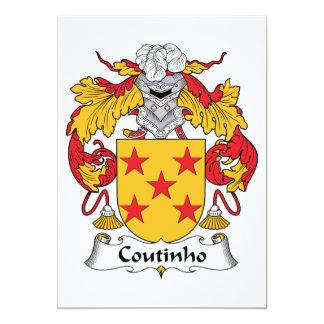 """Escudo de la familia de Coutinho Invitación 5"""" X 7"""""""