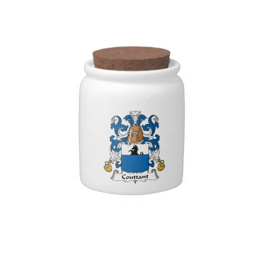 Escudo de la familia de Couttant Platos Para Caramelos