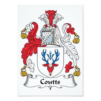Escudo de la familia de Coutts Invitación 12,7 X 17,8 Cm