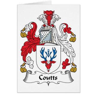 Escudo de la familia de Coutts Tarjeta