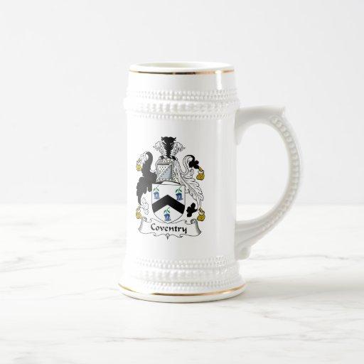 Escudo de la familia de Coventry Taza De Café