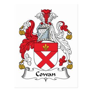 Escudo de la familia de Cowan Tarjeta Postal