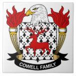 Escudo de la familia de Cowell Azulejo Ceramica