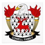 Escudo de la familia de Cowell Invitacion Personal