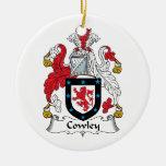 Escudo de la familia de Cowley Adornos De Navidad