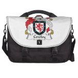 Escudo de la familia de Cowley Bolsas Para Portátil
