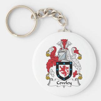 Escudo de la familia de Cowley Llavero