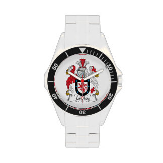 Escudo de la familia de Cowley Reloj